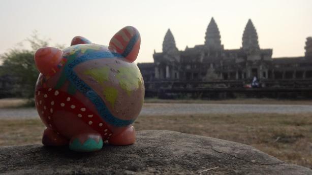 Peggy à Angkor !
