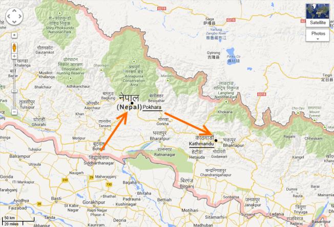 Itinéraire final Népal