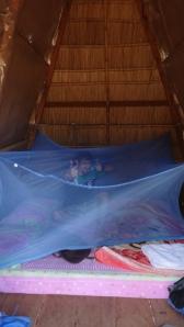 L'intérieur de notre hutte