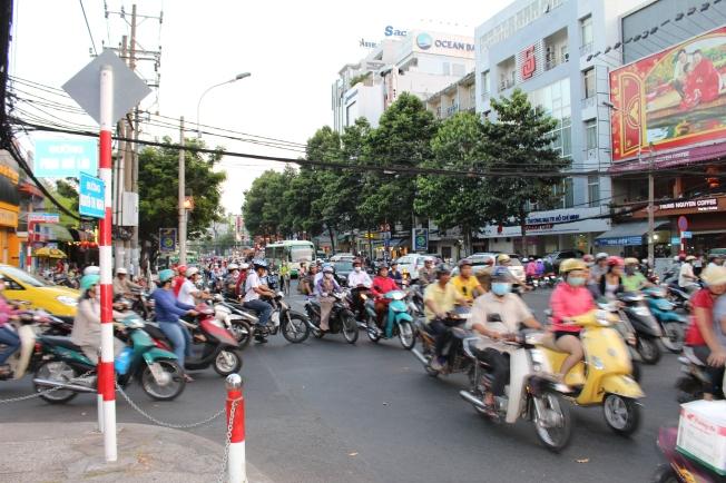 La circulation de Saigon