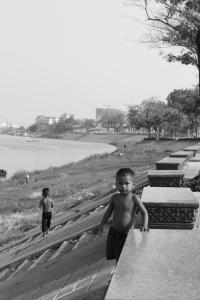 Enfant de rue a Phnom Penh