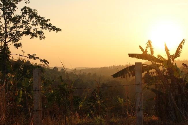 Coucher de soleil au Mondulkiri