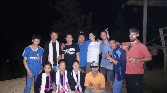 Soirée avec les jeunes du village