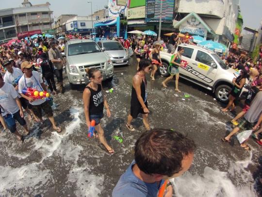 Les rues noyées de Chiang Mai