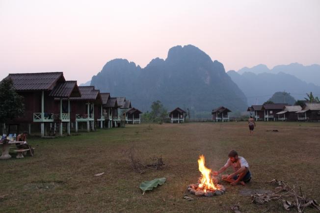 Petit barbuc à Vang Vieng