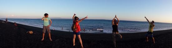 Une des plages de sable noir