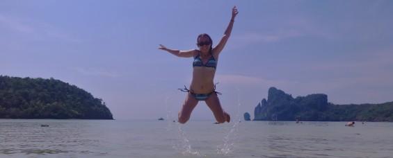Thai - Koh Phe Phe - Saut dans l'eau (23)
