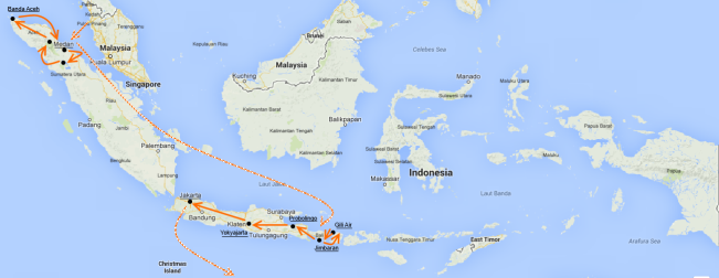Carte Indonésie