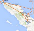 Carte Nord Sumatra