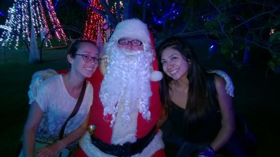 Avec Natalia et le Papa Noël