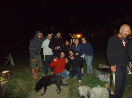 Asado et petite soirée avec les gens de l'auberge