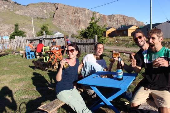 Autour d'une bière au soleil avec Guillaume et Flore