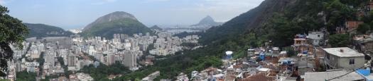 Vue depuis la favela de Santa Marta