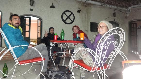 Petit apéro avec Valentine et Michaël sur le patio