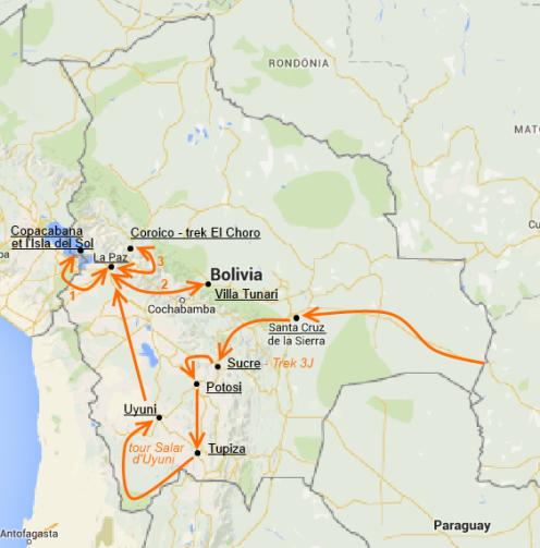 Notre itinéraire bolivien
