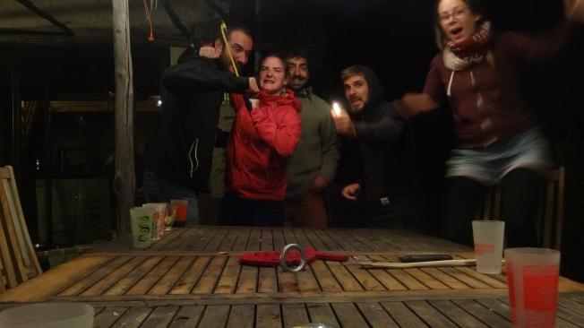 A SAINT ETIENNE VALLEE FRANCAISE, avec Valentine et Michael, rencontrés en Bolivie ;)