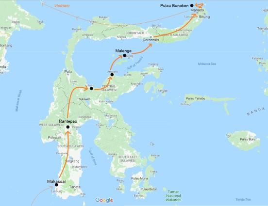 Carte Sulawesi